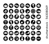 many vector food icons set 2 | Shutterstock .eps vector #56308069