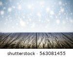 winter background scene with... | Shutterstock . vector #563081455