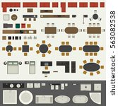 icons set of interior elements  ... | Shutterstock .eps vector #563082538