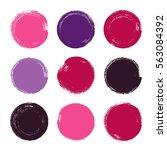 vector brush strokes circles of ... | Shutterstock .eps vector #563084392