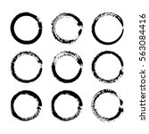 vector brush strokes circles of ... | Shutterstock .eps vector #563084416