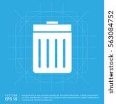 delete icon | Shutterstock .eps vector #563084752