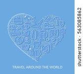 travel line white icons in...   Shutterstock .eps vector #563085862
