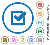 Checkbox Flat Color Vector...