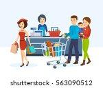 shop  supermarket interior ... | Shutterstock .eps vector #563090512