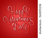 beautiful vintage happy... | Shutterstock .eps vector #563095258