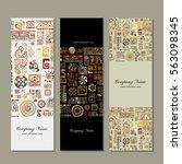 banners design  ethnic handmade ... | Shutterstock .eps vector #563098345