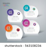 infographic design vector and... | Shutterstock .eps vector #563108236