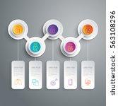 timeline infographic design... | Shutterstock .eps vector #563108296