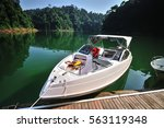 fishing boat  tourist boat   at ... | Shutterstock . vector #563119348