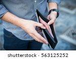 money in the wallet | Shutterstock . vector #563125252
