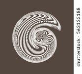 vector abstract spiral...   Shutterstock .eps vector #563132188