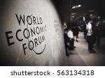 davos  switzerland   jan 18 ... | Shutterstock . vector #563134318