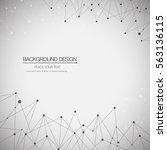 geometric  background molecule... | Shutterstock .eps vector #563136115