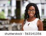 portrait of young black... | Shutterstock . vector #563141356