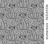 A Seamless Pattern With Cats ...