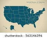 modern map   united states usa... | Shutterstock . vector #563146396