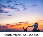 Silhouette Of Free Woman...