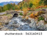 ashness bridge above the shores ... | Shutterstock . vector #563160415