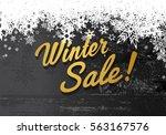 golden winter sale illustration ...