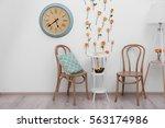interior of beautiful living... | Shutterstock . vector #563174986