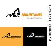 Excavator And Backhoe Logo...