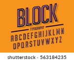 vector of retro stylized bold... | Shutterstock .eps vector #563184235