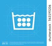 laundry symbols icon   Shutterstock .eps vector #563195206