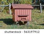 the old wooden beehive | Shutterstock . vector #563197912