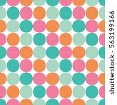 polka dot. vector seamless... | Shutterstock .eps vector #563199166