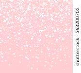 white hearts confetti. top... | Shutterstock .eps vector #563200702