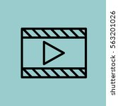 video player icon. isolated... | Shutterstock . vector #563201026