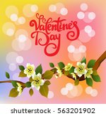 valentines day party poster... | Shutterstock .eps vector #563201902