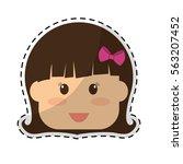 girl child icon image sticker... | Shutterstock .eps vector #563207452