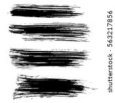 black ink vector brush strokes... | Shutterstock .eps vector #563217856