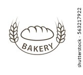 bakery logo. hand drawn. | Shutterstock .eps vector #563217922