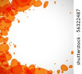Abstraction of the orange drops on a light background - stock vector