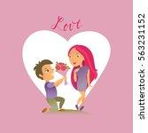 vector illustration. greeting... | Shutterstock .eps vector #563231152