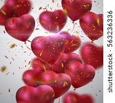 balloon hearts. vector holiday...   Shutterstock .eps vector #563236336
