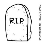 tombstone   cartoon vector and... | Shutterstock .eps vector #563241982