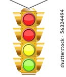 traffic light with four lights...