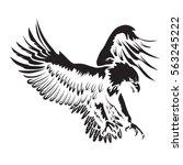 eagle emblem isolated on white... | Shutterstock .eps vector #563245222