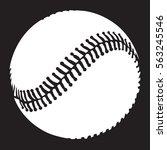 baseball. sport theme image.... | Shutterstock .eps vector #563245546
