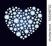 Diamond Heart. Valentine's Day...