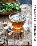 Tea With Mint Toned Photo