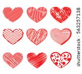 vector hearts   Shutterstock .eps vector #563257138