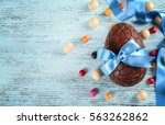 Chocolate Easter Egg With Colo...