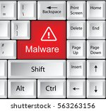 computer keyboard with malware | Shutterstock . vector #563263156