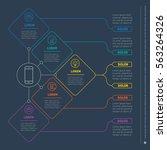 web template of a info chart ... | Shutterstock .eps vector #563264326