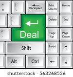 computer keyboard with deal | Shutterstock . vector #563268526